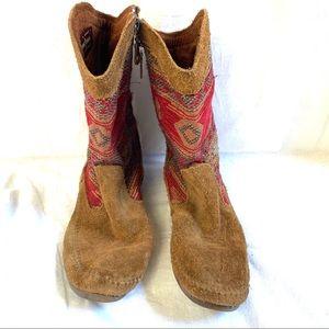 Minnetonka Baja boot brown suede Size 8